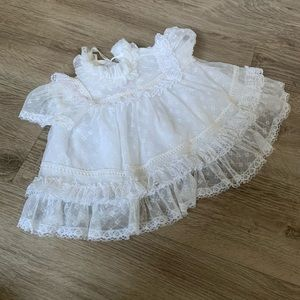 Other - Vintage White Lace Baby Dress